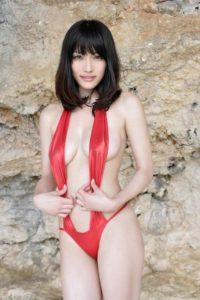 今野杏南 水着web写真集「揺れる黒髪少女」の水着おっぱい画像90枚!