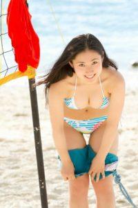 紗綾 水着写真集「17回目の夏」のGカップのデカパイ水着画像100枚!