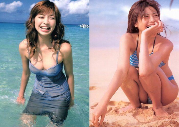 片瀬那奈 若い頃のキュートで美脚な写真集水着エロ画像93枚!