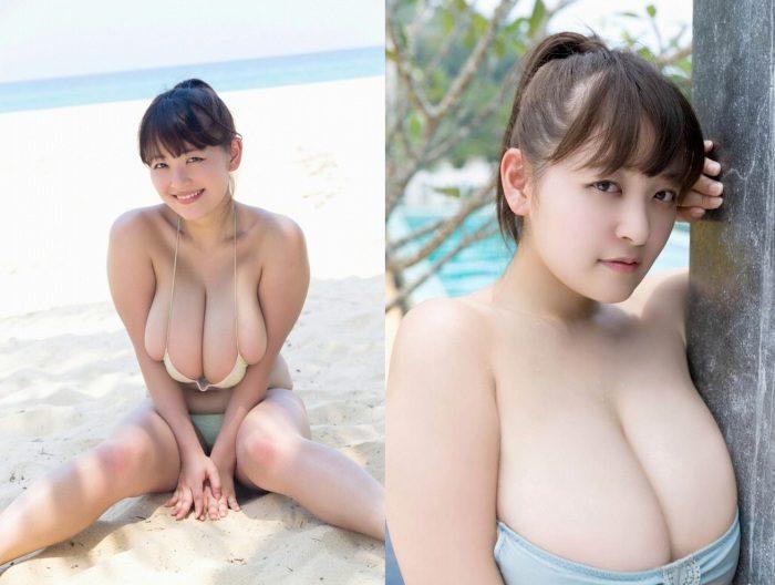 柳瀬さき Iカップが凄いムッチリ水着エロ画像100枚!