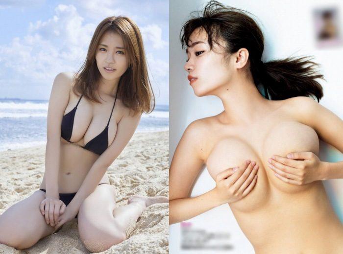 菜乃花 爆乳姉ちゃんのセミヌード&水着グラビアエロ画像160枚!