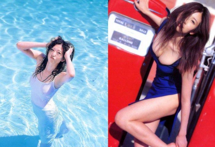 中島史恵 若い頃の水着&セミヌードエロ画像110枚!乳首付き