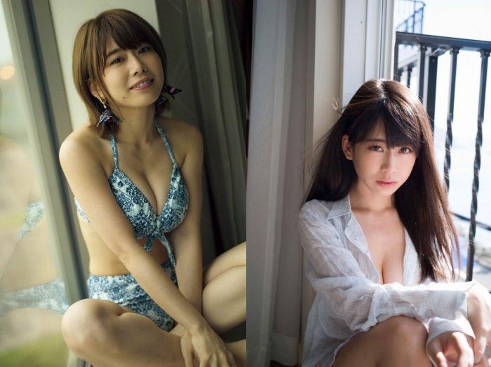 奥津マリリ Fカップ姉ちゃんの水着&自撮りエロ画像127枚!