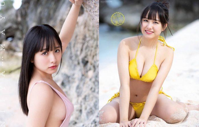 新谷真由 ボインアイドル姉ちゃんの水着グラビアエロ画像184枚!
