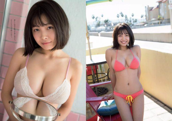 寺本莉緒 Gカップ18歳姉ちゃんの水着グラビアエロ画像156枚!
