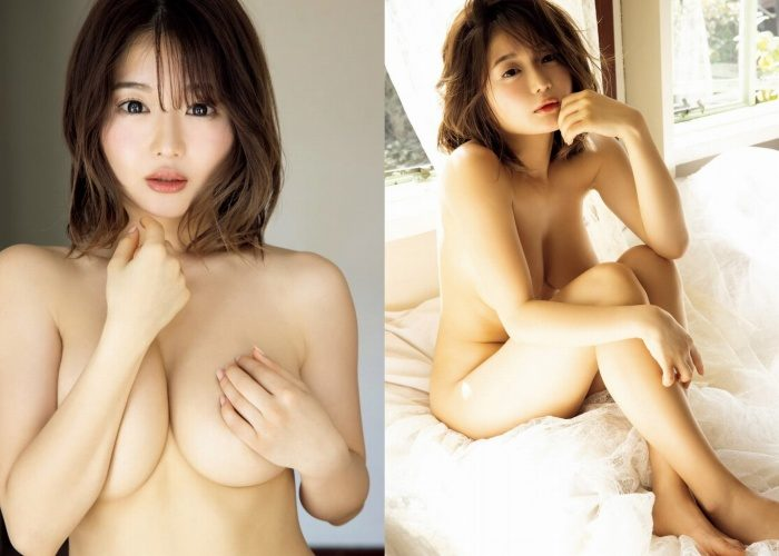 藤田もも 下乳がすごいFカップの水着グラビア画像150枚!