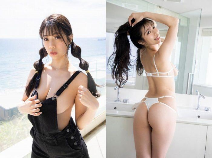 鈴木ふみ奈 Iカップの水着&着衣おっぱいエロ画像165枚!