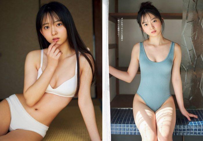 塚田百々花 激かわでふわふわな水着グラビア画像100枚!