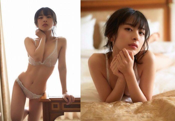 牧野澪菜 スレンダーな水着&下着のグラビア画像100枚!