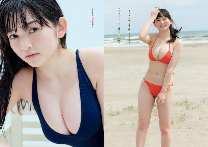 佐山すずか おっぱいが凄い水着グラビア画像100枚!